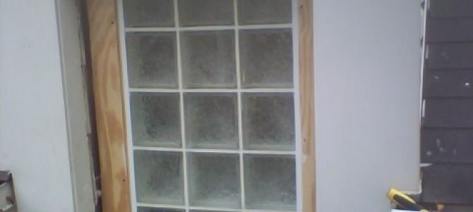 Block Shower Window