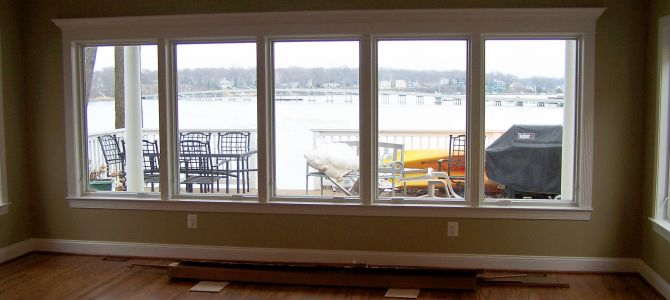 Water View Finished Windows